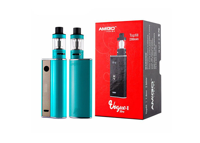 1.6ml Mini Polestar Tank Amigo Vapor Vogue 50W II E Cigarette Kit 0.5ohm Resistance